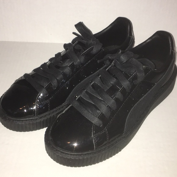 online retailer 88733 88d8d Puma X Rihanna Fenty Black Patent Creepers, US 7.5